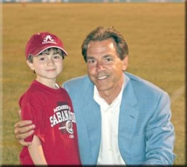 Saban with child